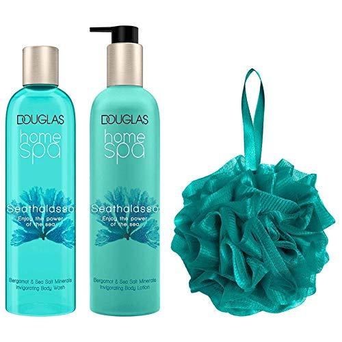 Douglas Home Spa - Seathalasso Invigorating Body Set Geschenkset Body Wash 300ml + Body Lotion 300ml + Shower Puff