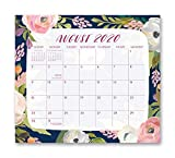 Magnetic Monthly Calendar Pad 2021 in Bella Flora by Orange Circle Studio - 8' x 10' 17-Month Daily Planner & Organizer with Magnetic Tab - Hang on Fridge, Cabinet or for Desktop