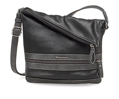 Tamaris Damen Smirne Crossbody Bag Umhängetasche, Schwarz (Black Comb.), 30x7,5x22 cm
