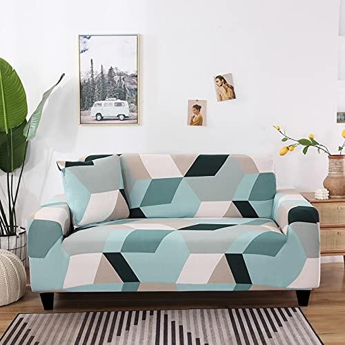 WXQY Moderne geometrische Stretch-Sofabezug Kombination Sofa Stuhl Wohnzimmer L-förmige Ecke Haustier Sofa Schutzhülle A34 1-Sitzer