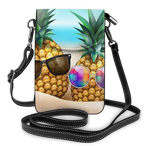 Crossbody - Bolso bandolera para teléfono celular, diseño de piña con gafas de sol