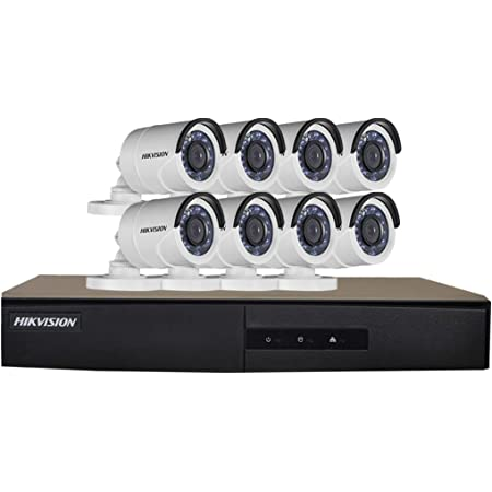 Hikvision New Upgraded 8CH Turbo HD Metal DVR with 2MP (1080P) 8 Night Vision Bullet Cameras Kit