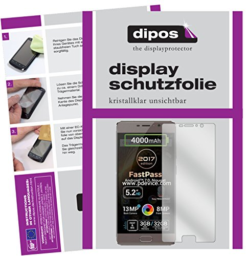 dipos I 6X Schutzfolie klar kompatibel mit Allview P9 Energy Lite 2017 Folie Bildschirmschutzfolie