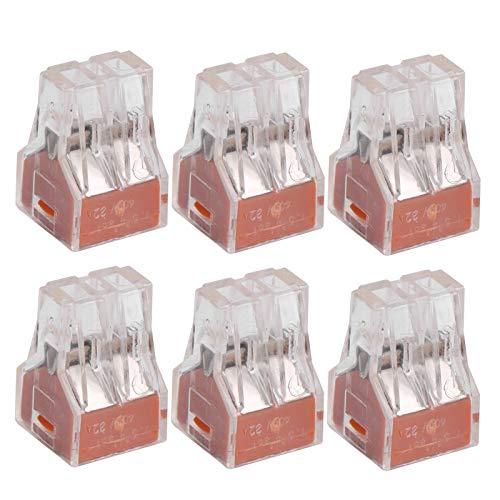 Conductor de cobre rojo PCT 100 piezas Bloque de terminales para cableado de interruptores Terminal de conexión rápida PCT(PCT-104)