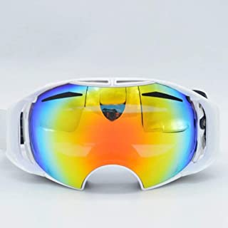 HS-GOGGLES TPU High Configuration Snow Mirror Double-Layer Anti-Fog Goggle Riding Anti-UV Anti-Fog Unisex Sports Sunglasses,White