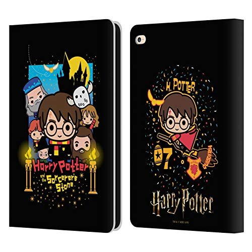 Head Case Designs Oficial Harry Potter Piedra Filosofal Deathly Hallows I Carcasa de Cuero Tipo Libro Compatible con iPad Air 2 (2014)