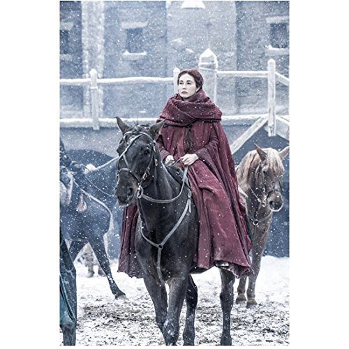 Game of Thrones Carice van Houten as Melisandre Riding Horse into Castle...