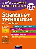 Sciences et technologie - Professeur des écoles - Oral, admission - CRPE 2018 (2018)