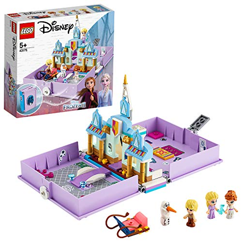 LEGO Disney Frozen II, Les aventures d'Anna et Elsa dans un livre de contes, Ensemble de jeu, Jouet de voyage portable, 175 pièces, 43175