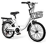 Mountain bike per bambini da 20 pollici, bicicletta da città con freno a mano, imbottitura per manubrio e supporto per bicicletta, unisex, con pompa e lucchetto