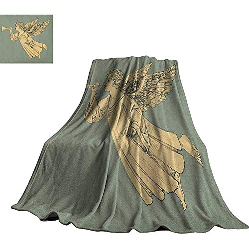 mallcentral-EU Weihnachten, Digitaldruck-Decken-Fliegen-Weihnachtsengel mit den Flügeln, die Trompete-mythologische alte Grafik-Strand-Decke Spielen