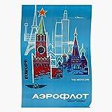 Russian Russia Aeroflot Airline Soviet Communist Vintage Plain Home Decor Wall Art Print Poster !
