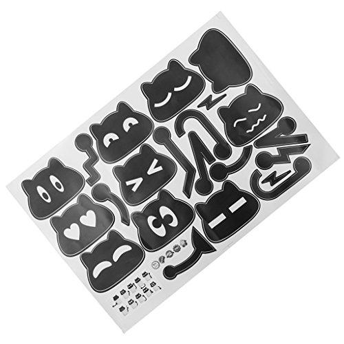 Baoblaze 10 Unids/Set Pegatinas de Pared Encantadoras, Ventana de Habitación Bonita DIY Interruptor de Decoración de Pared Calcomanía de Vinilo Pegatina Deco