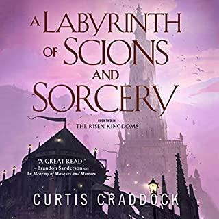 A Labyrinth of Scions and Sorcery audiobook cover art