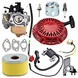 Harbot 212CC Carburetor Carb for Harbor Freight Predator 60363 68121 68120 69730 69727 Engine R210 Gas Engine with Air Filter Ignition Coil Tune Up Kit