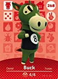 Nintendo Animal Crossing Happy Home Designer Amiibo Card Buck 268/300 USA Version