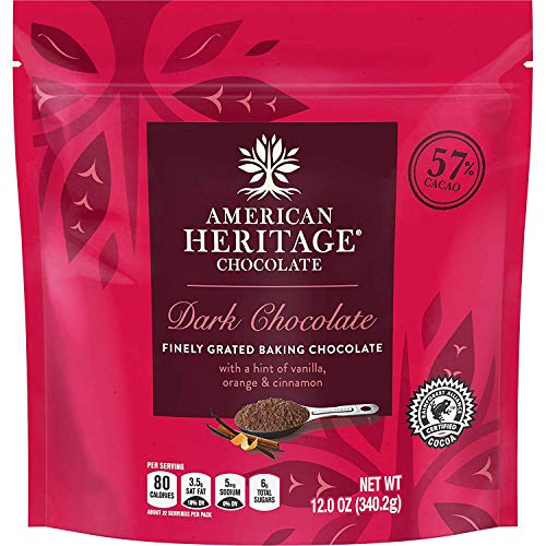 American Heritage Chocolate Finely Grated Chocolate, 12-Ounce pouch