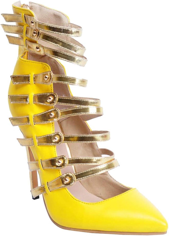 CASOCK Ladies Ladies Ladies Handgjorda remmar hög klack Pumpar med spetsiga, stora, Storleksklubbens modeskor  bästa erbjudande