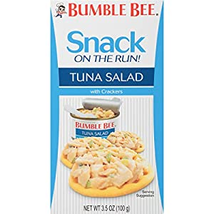 BUMBLE BEE Snack On The Run! Tuna Salad with Crackers Kit, 3.5 Ounce Kit (Pack of 9), High Protein Snack Food, Canned Tuna, Healthy Snacks for Adults by Bumble Bee Seafood, LLC