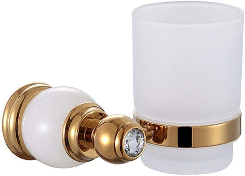European Copper White Christmas DorÉ Titanium of Diamond Base Accessories of Bathroom Dry-Towels,Soap Rack Single Cup