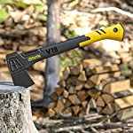 LEXIVON V18 Chopping Axe, 18-Inch Lightweight Fiber-glass Composite Handle & Ergonomic TPR Grip | Protective Carrying… 12 INNOVATIVE DESIGN - Fully encased over-molded blade. Hi-Tech fiberglass composite injected handle, featuring reinforced back spine & non-slip TPR grip. DURABLE - Drop-forged & heat-treated Grade A High-Carbon steel, meticulously hardened cutting edges provides a deeper and cleaner contact. CHOPPING - Aggressive cutting angles design for better and efficient contact | Chops small to medium-sized logs. Ideal for camping and many other outdoor activities.