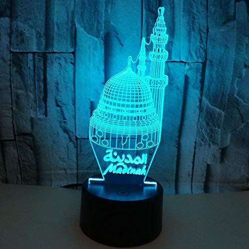 3D LED blokkering nachtlicht touch sensor 7 kleuren veranderende decoratie kinderlicht set nachtlampje met nachtlampje cadeau voor kinderen
