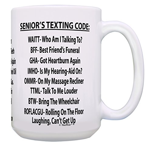 Coffee Mug With Senior Texting Code