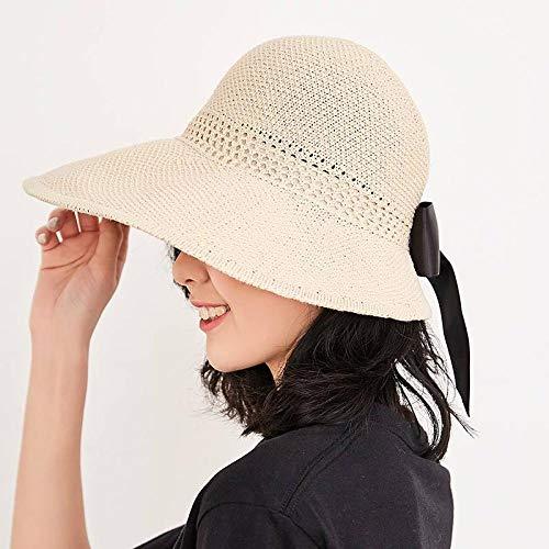 Der Sonnenhut blockiert die ultravioletten Strahlen der Sonne.Beige faltbar.Leicht zu tragen.Gewebter Hut.Kleine Krempe.