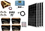 WindyNation 400 Watt (4pcs 100W) Solar Panel Kit + 1500 Watt VertaMax Power Inverter + AGM Battery...