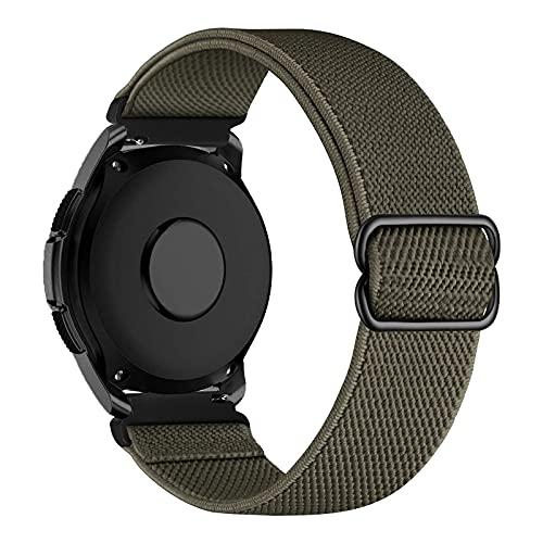 iBazal 20mm Correa Galaxy Watch 3 41mm Nylon Band Trenzada Compatible con Samsung Galaxy Watch Active2 40mm 44mm/Galaxy Watch 42mm Reemplazo para Huawei GT 2 42mm/GTR 42mm/GTS Pulsera Band - Verde