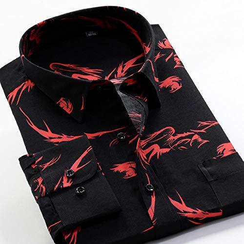 Camisa Camisa de manga larga estampada de primavera y otoño Camisa clásica de flores de moda para hombres 13 Elección de color se aplica al trabajo de negocios o al uso diario etc.-226092_10XL-50