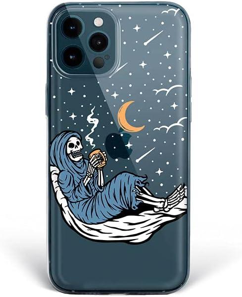 Bonito-Store iPhone Xs Max Case Cute Night 11 Pro 5 6 6S 12 Mini 7 8 Plus Fun Skeleton X XR SE 2020 Compatible with Samsung Galaxy S21 Ultra S20 FE Coffee Cup S10 + Moon Stars S8 S9 Note 20 10 9 S10e