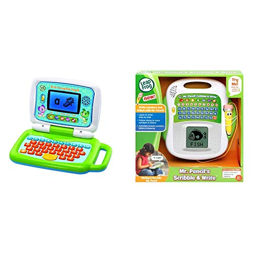 LeapFrog '2 in 1 Leap Top Touch Toy, Green & 600803 Mr Pencil's Scribble and Write Interactive Learning Toy Educational Baby Letters, Numbers and Shapes