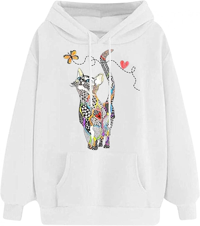 Toeava Womens Cute Dinosaur Sweatshirt Teens Girls Casual Pullover Long Sleeve Splice Tops Comfy Sweater