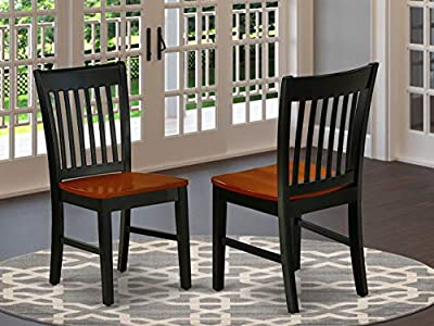 East West Furniture NFC-LWH-W Norfolk Dining