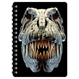3D LiveLife Jotter - T-Rex Skull from Deluxebase. Lenticular 3D Dinosaur 6x4 Spiral Notebook with plain recycled paper pages. Artwork licensed from renowned artist David Penfound