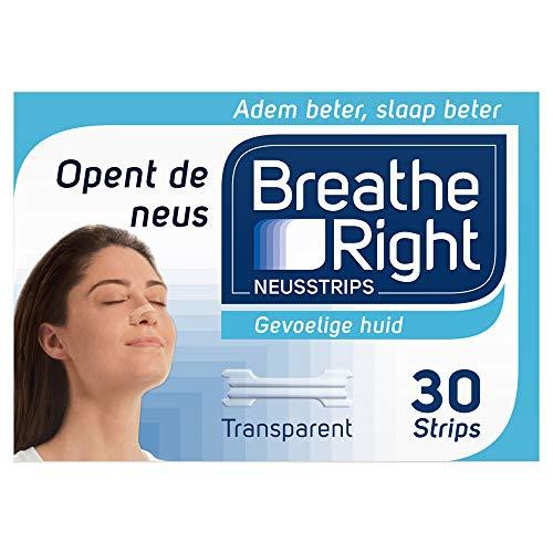 Breathe Right Neusstrips Clear, 30 Stuk