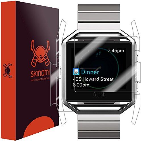 Skinomi TechSkin - Pellicola Protettiva per Fitbit Blaze Parte Anteriore e Posteriore