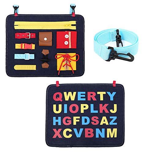 upain Busy Board para Niños Tablero de Actividades para Bebe Juguetes de Bebé Aprende a Vestir Montessori Juguetes Educativos de Habilidades Básicas para Edades 2 3 4 5