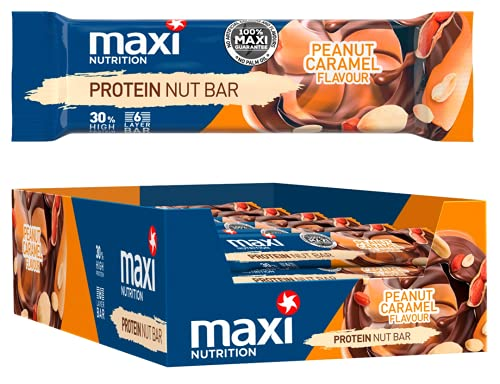 MaxiNutrition Protein Nut Bar - Peanut Caramel, 18 x 50g (900g)