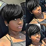 Short Pixie Cut Hair Natural Synthetic Wigs for Women Heat, sw911, Size No Size