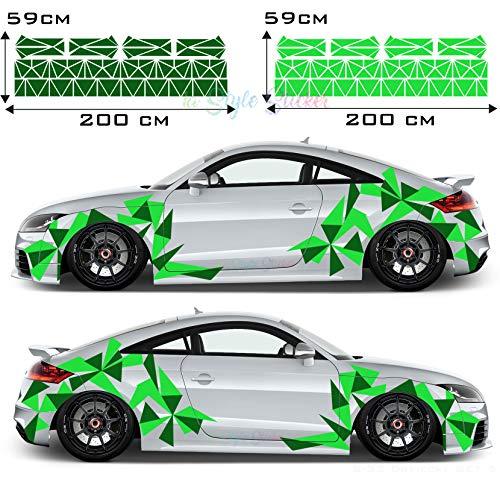 Seitenaufkleber Dreieck Auto Sticker CAR Tattoo New Eckig Decal Mix Set 2 Farbig 194 Teiliges Camouflage Style New