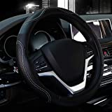 2015 Audi S6 Factory Wheels - Valleycomfy 15.75 inch Auto Car White Steering Wheel Covers- Genuine Leather for for F-150 Tundra Range Rover