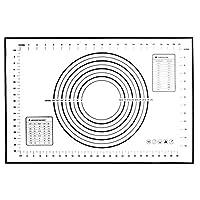 クッキングマット 調理 マット 製菓マット パンマット 目盛り付きマット 食品級シリコーン 滑り止め 調理 製菓道具 大きいサ40×60? (B)