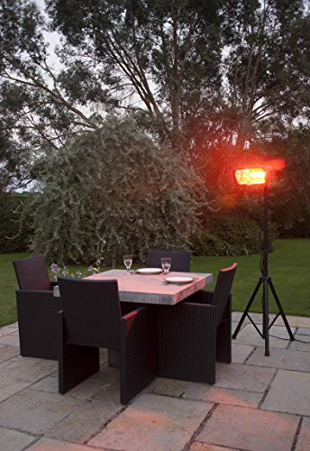 La Hacienda Heatmaster Royal Wand Stativ montiert Elektroheizung, schwarz, 49x 45x 9cm - 3
