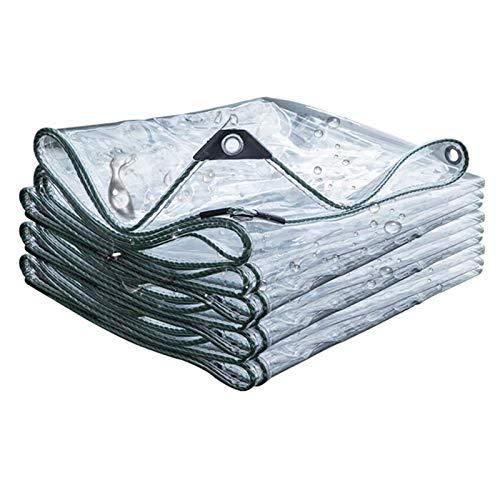 Abdeckplane Transparente Plane Wasserdichte Schutzplane PVC Kunststoffplane mit Ösen Vordächer und Planen, für Gartenmöbel Pflanzen Gewächshaus