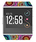 Ionic Case/Soft Flexible TPU Clear Protector Protective Screen Cover Glass Compatible with Fitbit Ionic with Design Flower Floral