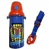 水筒 プッシュ式 直飲み スポーツボトル 子ども用水筒 ワンタッチ ボトル 480ml 食洗機対応 日本製 スパイダーマン