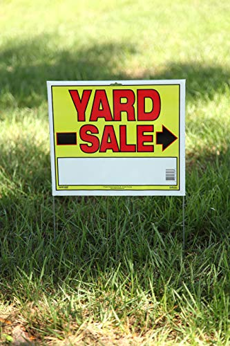 "Sunburst Systems 3908 Yard 10-Pack of Yard Sale Signs with U-Stakes. 22"" H x 14"" W-Double Sided, Yellow, Red, Black"