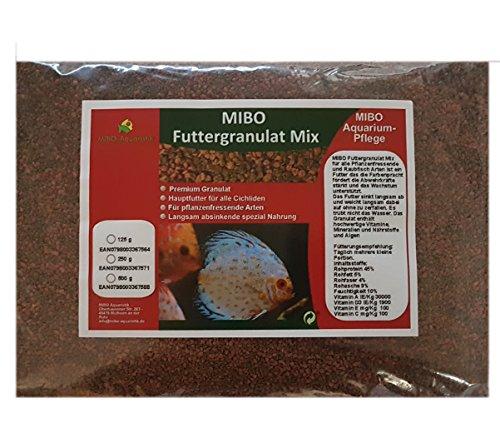 MIBO Hauptfutter Granulat Mix 500ml/250g Cichliden Bits für alle Zierfische im Aquarium